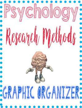 Psychology Research Methods Graphic Organizer or Note Guide