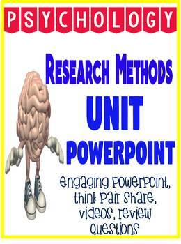 Psychology Research Methods PowerPoint Engaging and fun