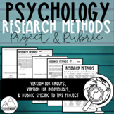 Psychology Research Methods Project & Rubric