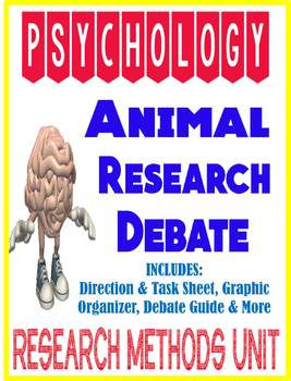 Psychology Research Methods Unit Animal Research Debate Activity