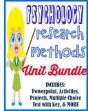 Psychology Research Methods Unit Bundle
