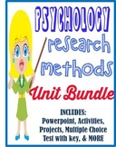 Psychology Research Methods Unit Bundle