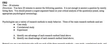 Psychology - Research Methods Unit Bundle