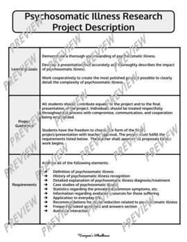 Psychology Research Project: Psychosomatic Illness