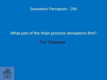Psychology Review Game: Unit 2 Sensation and Perception