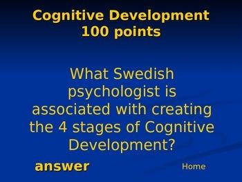 Psychology Review Game: Unit 5 Developmental Psychology