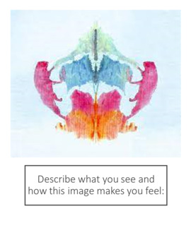 Psychology: Rorschach Inkblot Close Reading and Activity