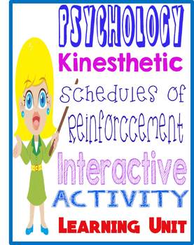 Psychology Schedules of reinforcement board review activity for learning unit