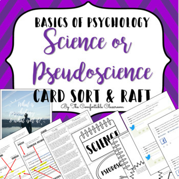 Basics of Psychology: Science vs. Pseudoscience Card Sort and RAFT