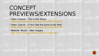 Psychology, Sensation & Perception, Color Vision Class Warm-Ups (Exit Tickets)
