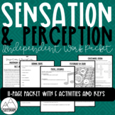 Psychology: Sensation & Perception Independent Work Packet
