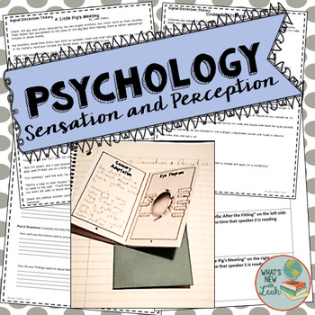 psychology sensation and perception essay Sensation (psychology) jump to navigation jump to search  but experimental evidence shows that the effect is perception based see also perception.