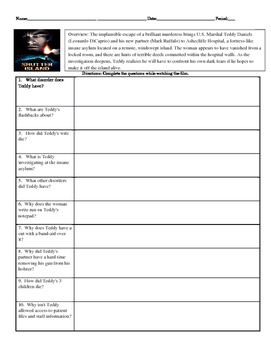 Psychology Shutter Island Movie Guide with KEY