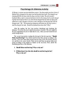Psychology - Social Psychology - Dilemma (Philosophy)