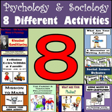 Psychology & Sociology Bundle - 8 Different Activities for Middle School!