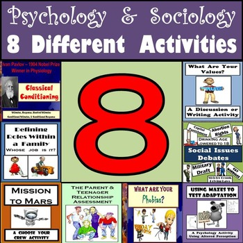 Psychology & Sociology Bundle - 8 Different Activities for
