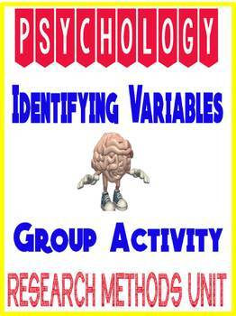 Psychology Statistics Identifying variables group activity