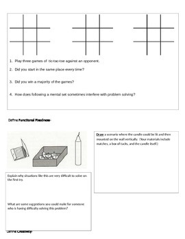 Psychology - Strategies and Methods activity packet