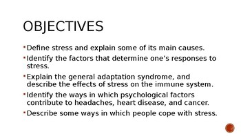 Psychology- Stress and Health