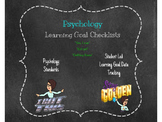 Psychology Student Learning Goal Checklist