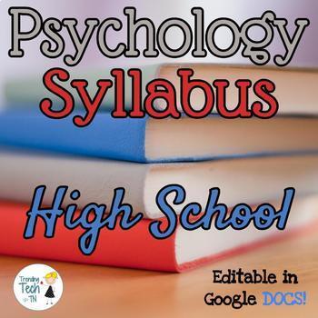 Psychology Syllabus - Fully Editable in Google Docs!