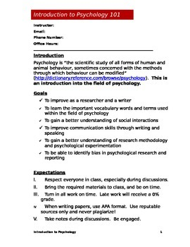 Psychology Syllabus (Doc)