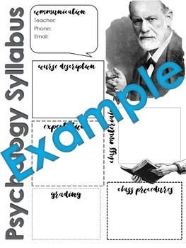 Psychology Syllabus Template