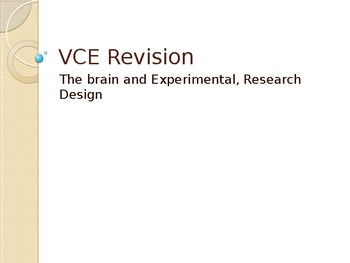 Psychology - The Brain Revision