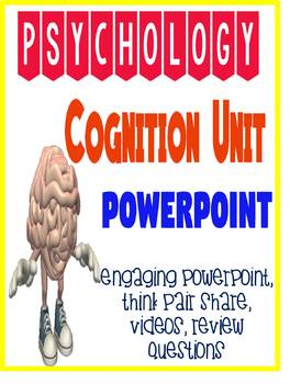 Psychology Cognition Thinking & Language PowerPoint Activities Review Quiz