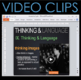 Psychology: Thinking & Language PowerPoint with Video Clip Links/Presenter notes