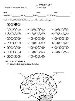 Psychology Topic Test - Unit 2: Self - Biological Influences