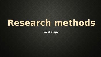 Psychology - Unit 1 - Research Methods