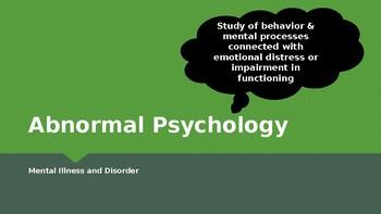 Psychology - Unit 10 - Abnormal Psychology