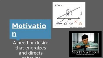 Psychology - Unit 5 - Motivation