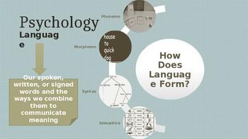 Psychology - Unit 8 - Language