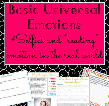 Psychology: Universal Emotions Selfies & Self Reflection