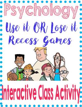 Psychology Use it  Lose it Interactive Activity for Nature Nurture Brain Memory