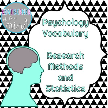 Psychology Vocabulary: Research and Statistics