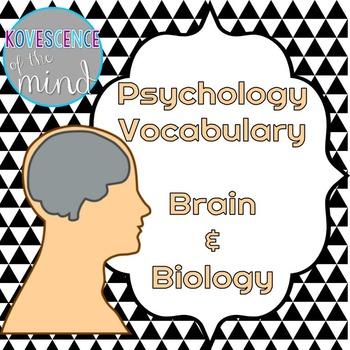 Psychology Vocabulary: The Brain and Biology