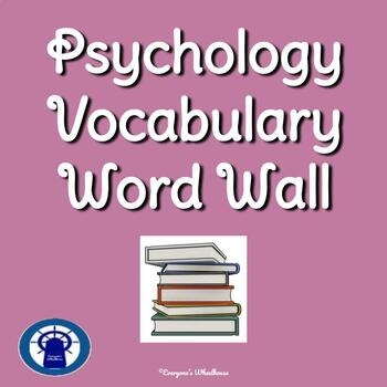 Psychology Vocabulary Word Wall--100 Common Vocabulary Words