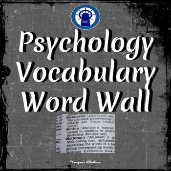 Psychology Vocabulary Word Wall--100 Common Vocabulary Words Chalkboard Theme