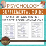 Psychology Supplemental Guide - Table of Contents + Websit