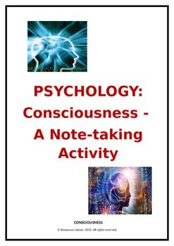 Psychology: What is Consciousness? A Note-taking Activity