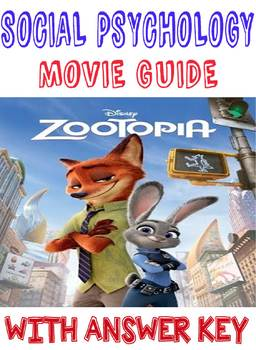 Psychology Zootopia Movie Analysis Social Psychology unit with answer key