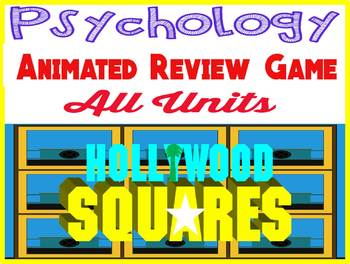Psychology animated REVIEW Hollywood Squares Game for EVERY unit