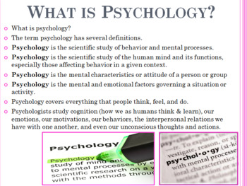 Psychology at a Glance Unit PowerPoint