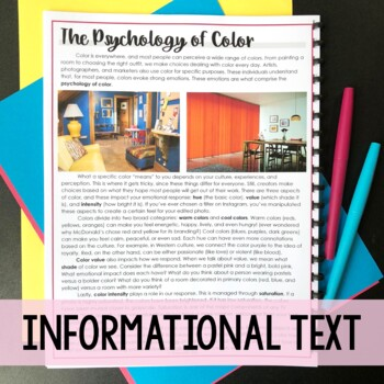 Psychology of Color (Informational Text) - Media Literacy Lesson