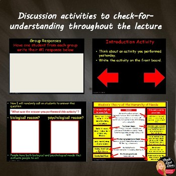 Psychology of Motivation Lecture Power Point Presentation and Assessment