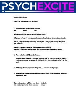 Psychology revision ideas