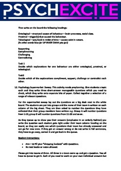 Psychology writing practice activitites